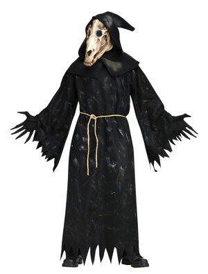 Horse Skull Demon Scary Adult Costume