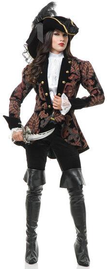 Elegant Pirate Lady Adult Costume