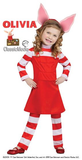 Olivia the Piglet Storybook Kids Costume