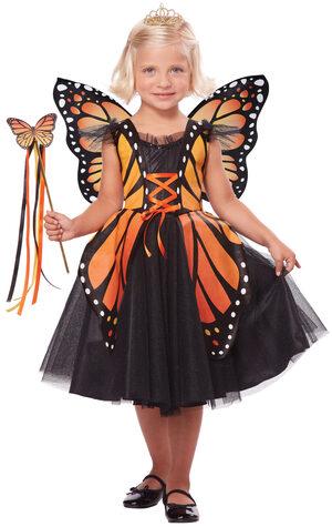 Monarch Butterfly Princess Kids Costume