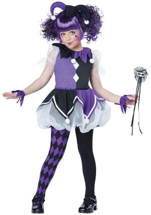 Gothic Jester Girl Kids Costume