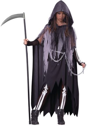 Miss Reaper Scary Kids Costume