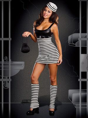 Sexy Convict Cutie Costume