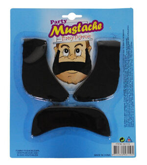 Party Mustache and Sideburn Set
