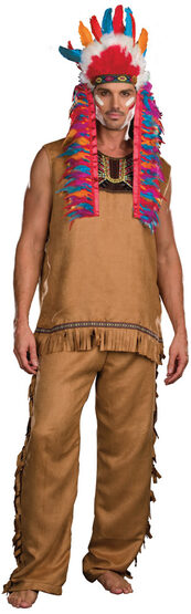 Chief Big Wood Indian Adult Costume
