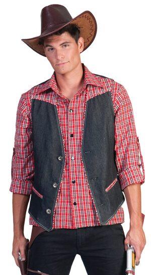 Wild West Cowboy Vest Adult Costume