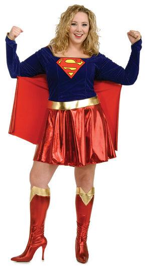 Sexy Plus Size Supergirl Costume