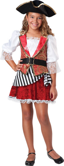 Pretty Pirate Kids Costume