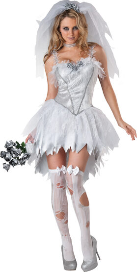 Gothic Bloodless Bride Adult Costume