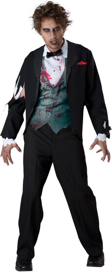 Gruesome Groom Scary Adult Costume