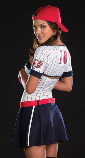 Sexy Big League Baseball Babe Costume