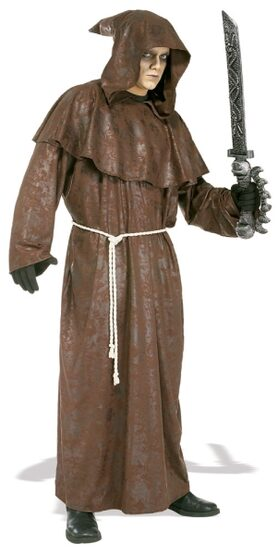 Mens Mad Monk Scary Costume