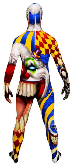 Scary Clown Morphsuit Kids Costume