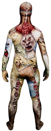 Scary Facelift Morphsuit Kids Costume