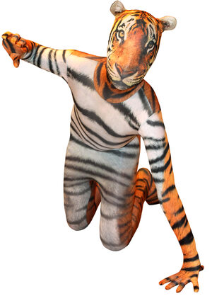 Tiger Morphsuit Kids Costume