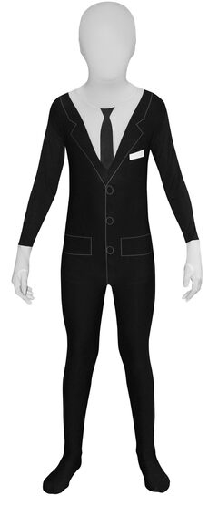 Scary Slenderman Morphsuit Kids Costume