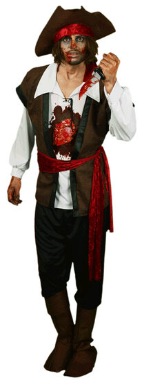 Beating Heart Pirate Adult Costume