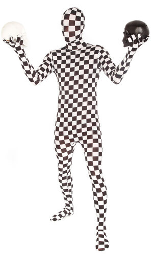 Checkered Morphsuit Adult Costume