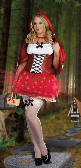 Little Red De-Light Riding Hood Plus Size Costume