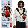 Beating Heart Scary Zombie Adult Costume