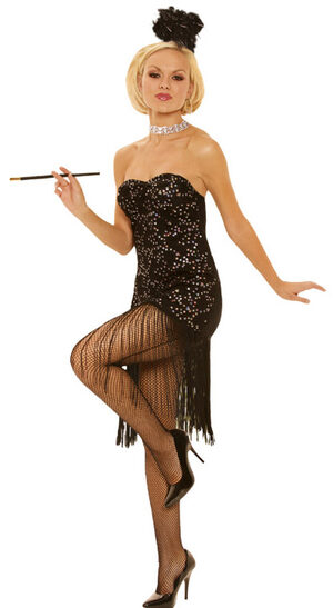 Sexy Foxy Flapper Girl Costume