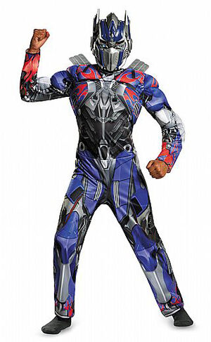 Transformers Muscle Chest Optimus Prime Kids Costume
