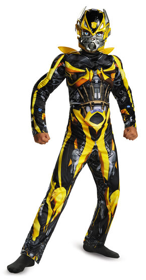 Muscle Chest Transformers Bumblebee Kids Costume