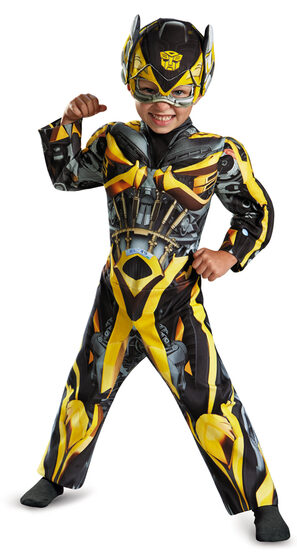 Muscle Chest Bumblebee Toddler Kids Costume
