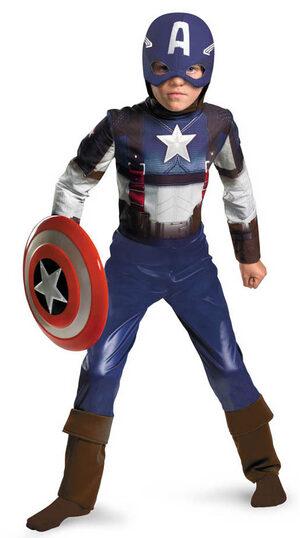 Classic Captain America Retro Kids Costume