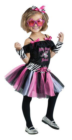 Girls Rockstar Rebel Kids Costume