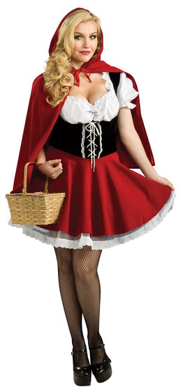 Sexy Red Riding Hood Plus Size Costume