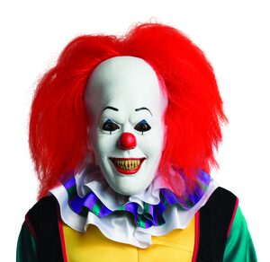 Pennywise Scary Clown Mask with Wig Mask