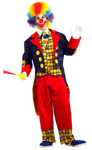 Mens Checkers the Clown Adult Costume