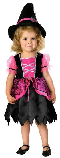 Pretty in Pink Witch Kids Costume