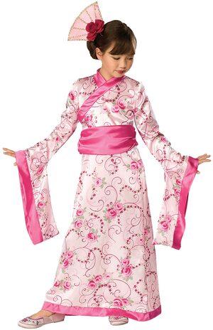 Geisha Princess Kids Costume