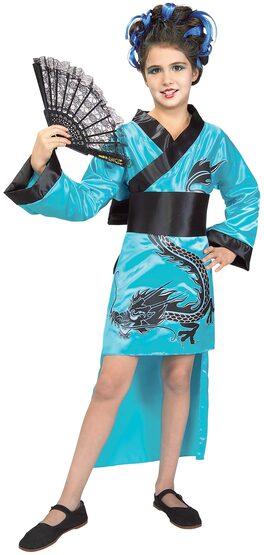 Dragon Lady Geisha Kids Costume