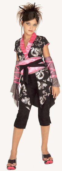 Girls Pink Ninja Kids Costume