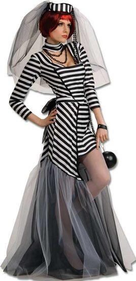 Gothic Prison Bride Adult Costume