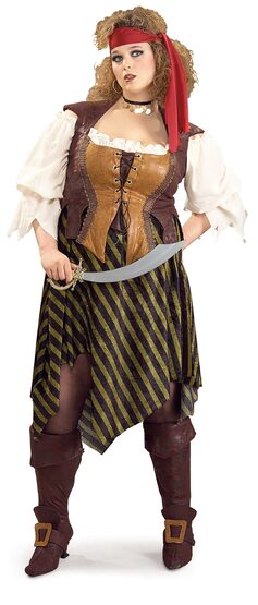 Pretty Pirate Wench Plus Size Costume