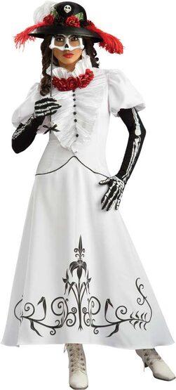 Grand Heritage Skeleton Bride Adult Costume