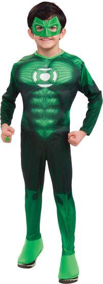 Muscle Chest Green Lantern Kids Costume