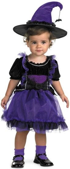 Toddler Frilly Witch Kids Costume