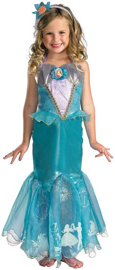 Disney Princess Ariel Little Mermaid Kids Costume