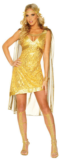 Sexy Golden Goddess Costume