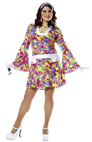Groovy Chic Hippie Plus Size Costume