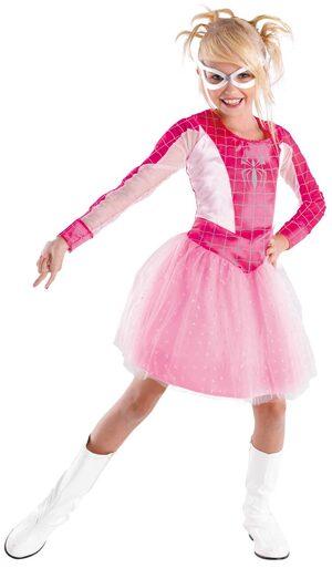 Pink Spider Girl Superhero Kids Costume