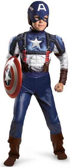 Captain America Superhero Kids Costume