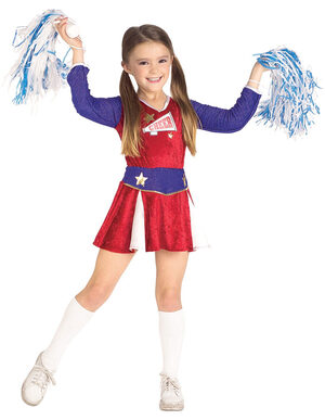 Retro Cheerleader Kids Costume