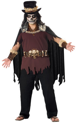 Mens Witch Doctor Plus Size Costume