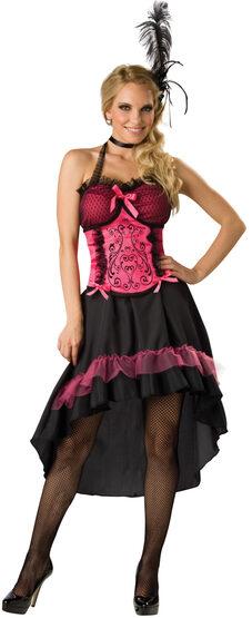 Sexy Pink Saloon Girl Costume
